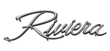 Fender Emblem For 1971 73 Buick Riviera Script Riviera